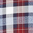 Luxury Pure Cotton Checked Shirt , CRANBERRY, swatch
