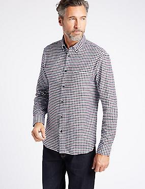 Chemise 100% coton à carreaux avec poche, BOURGOGNE ASSORTI, catlanding