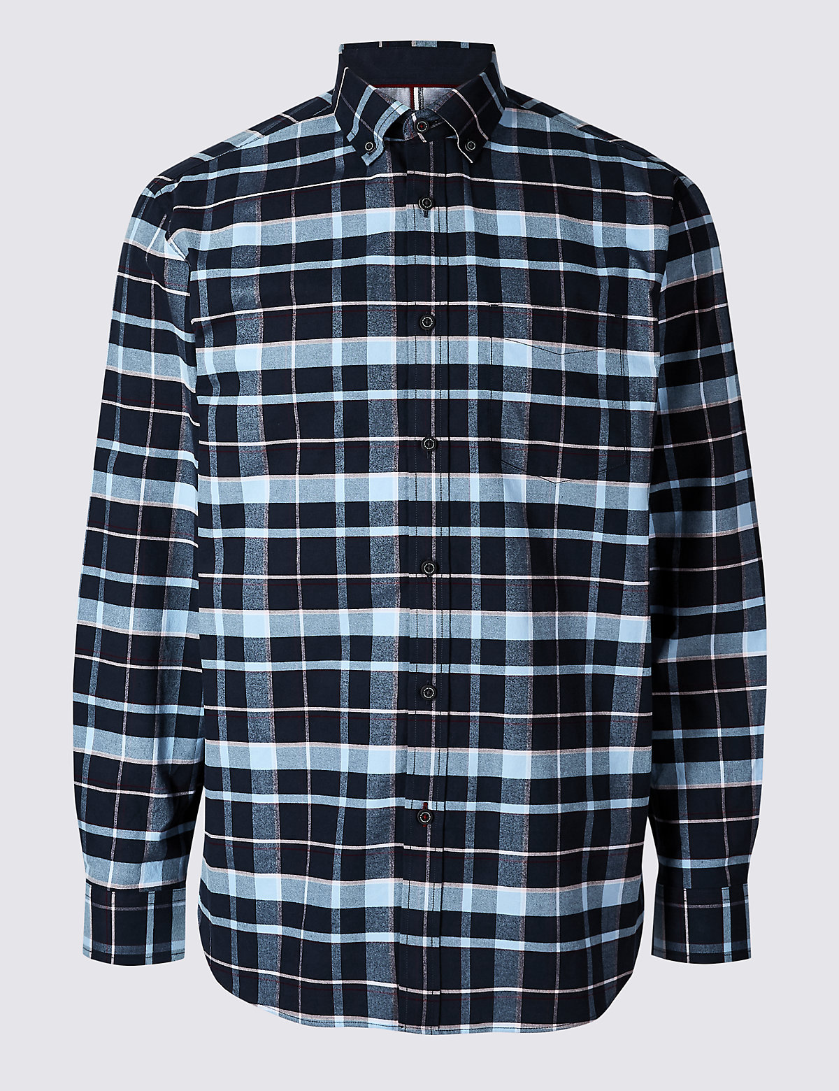 Рубашка  из 100% хлопка с карманом, в клетку