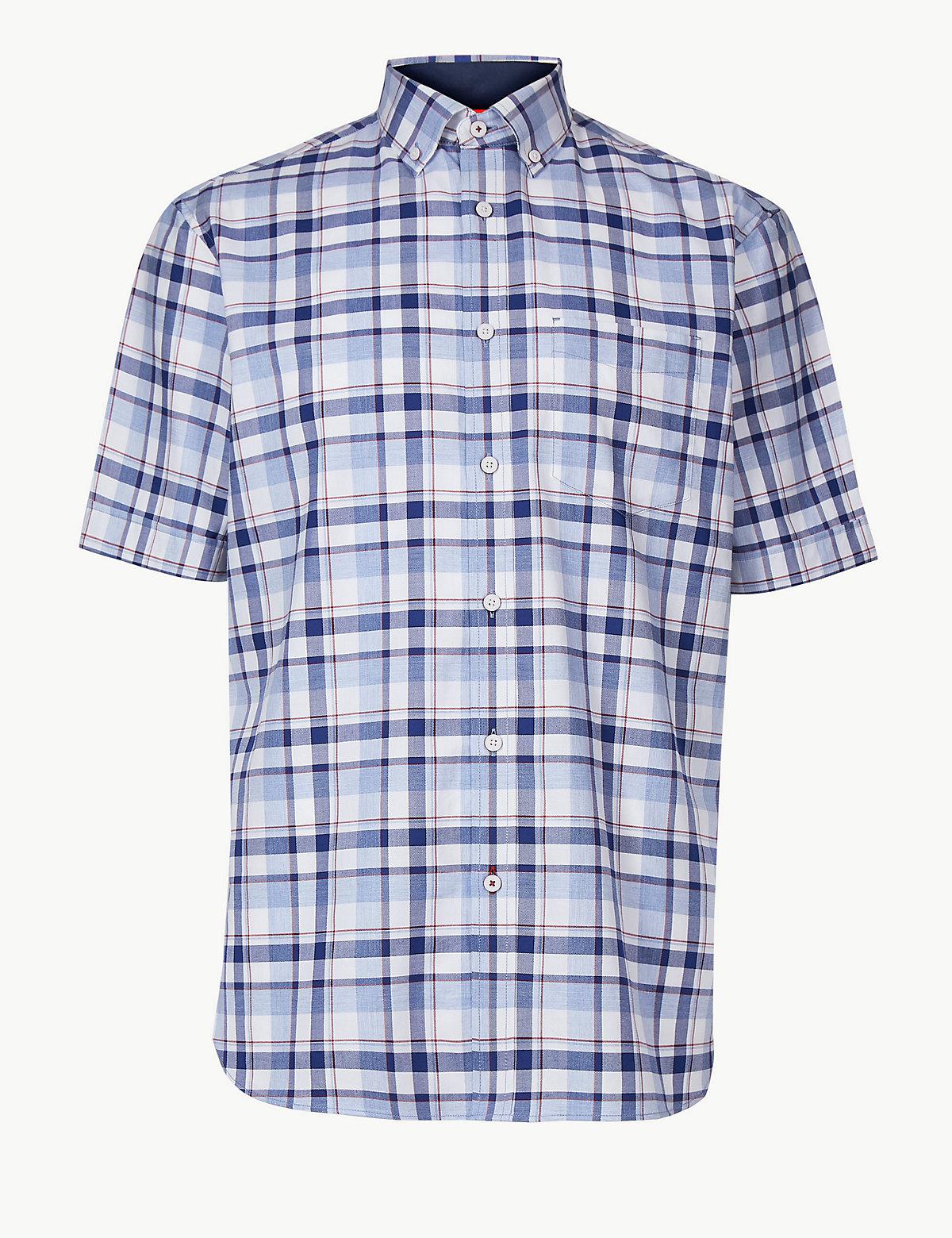 Рубашка из 100%-го хлопка в клетку
