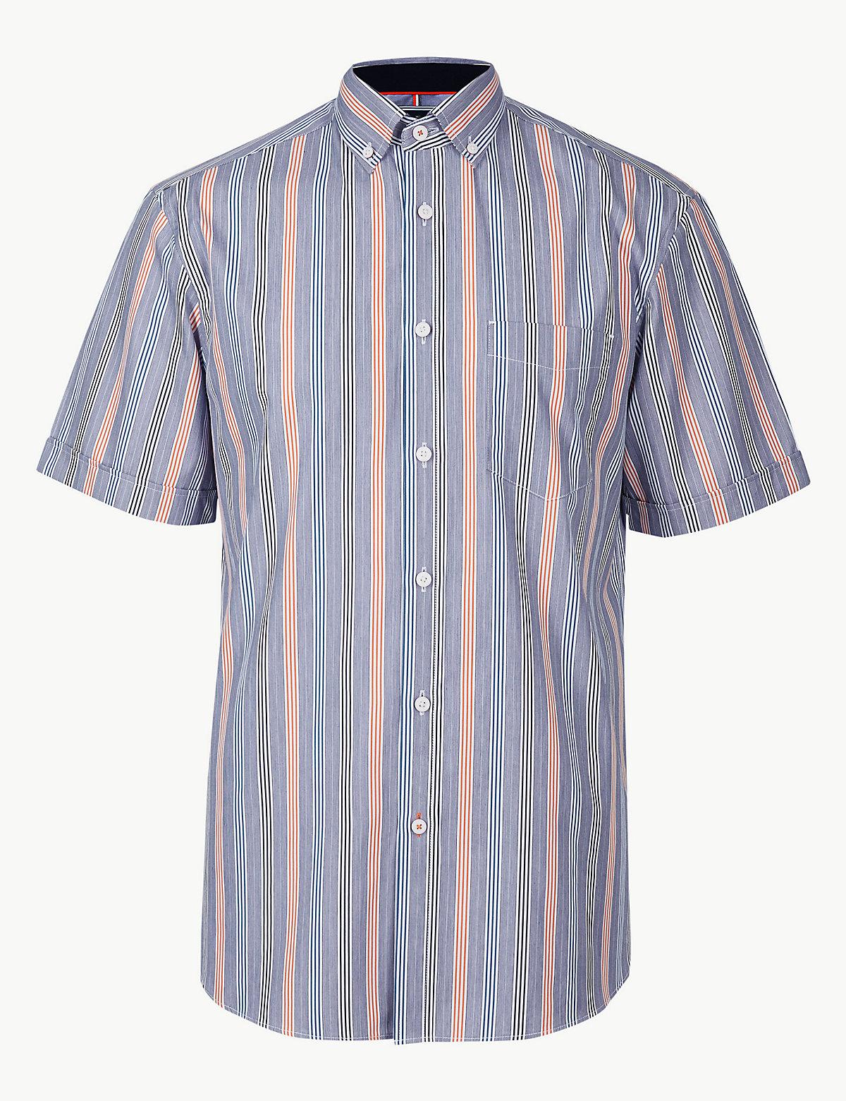 Мужская рубашка в вертикальную полоску