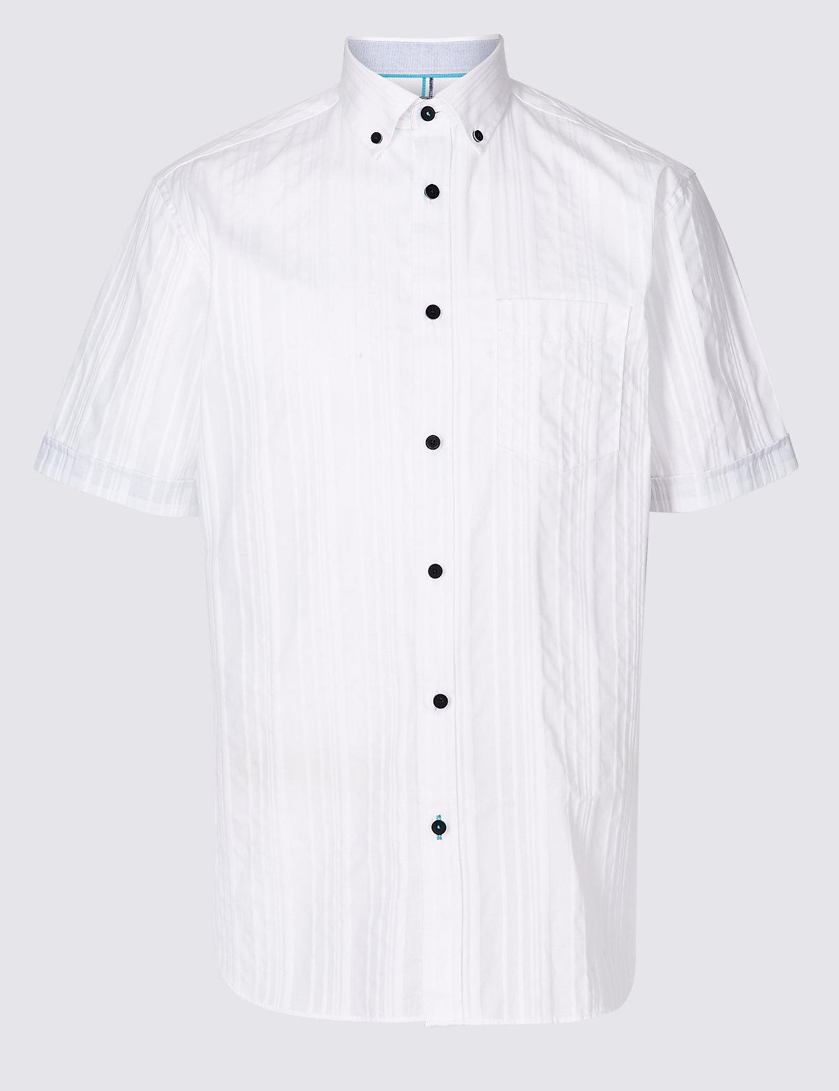 Текстурированная мужская рубашка с карманом