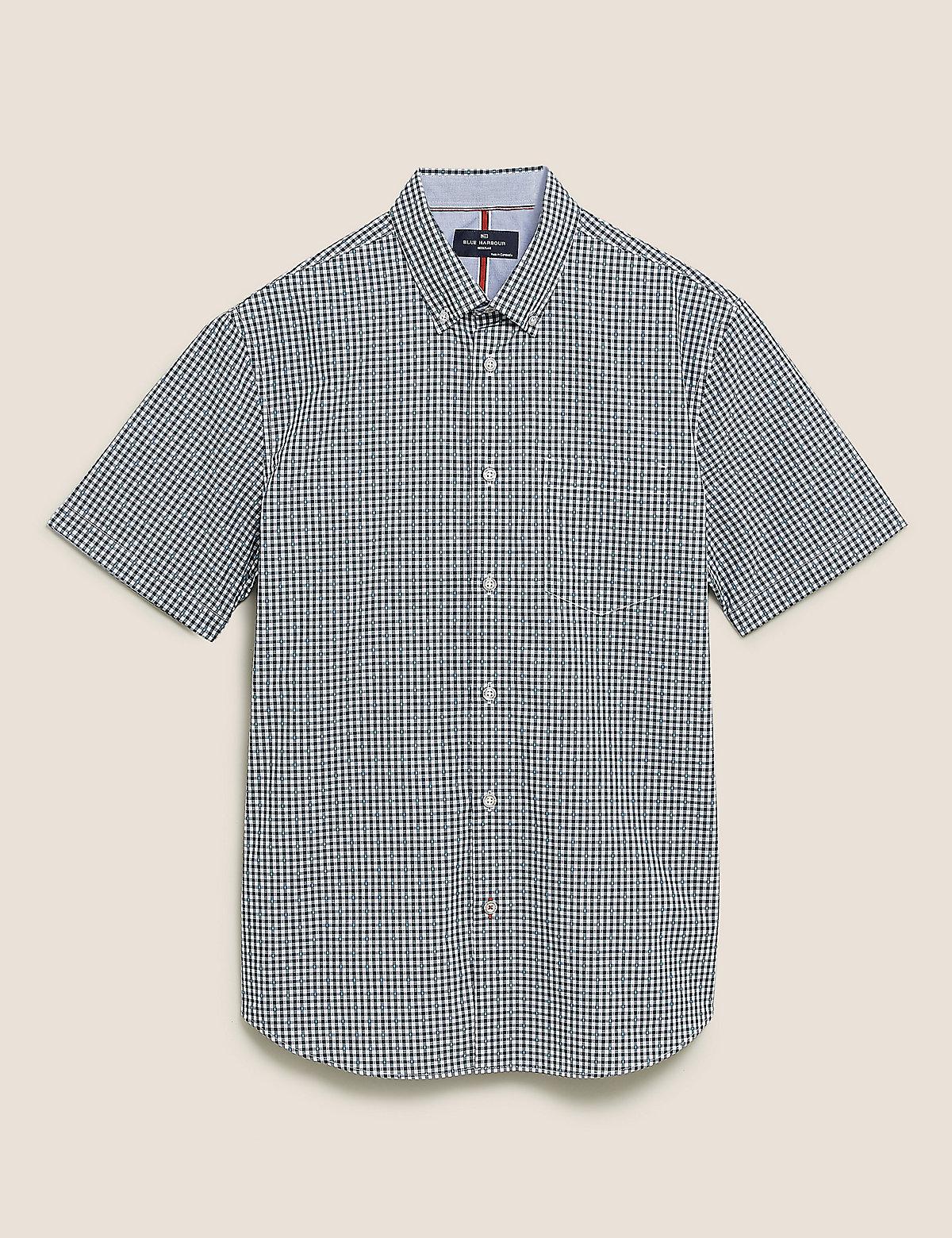 Рубашка из чистого хлопка в мелкую клетку