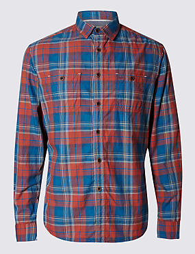 Pure Cotton Double Face Checked Shirt