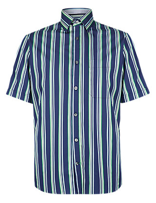 Premium Pure Cotton Striped Shirt Clothing