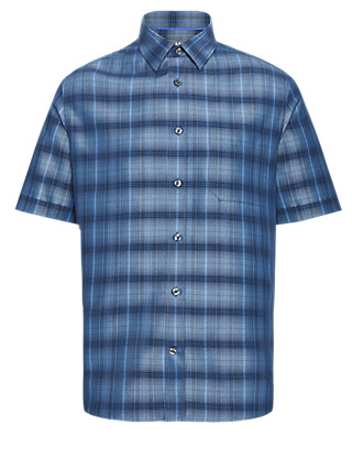 Modal Blend Easy Care Soft Touch Checked Shirt Clothing