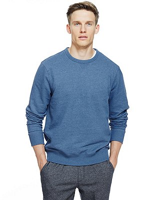 Crew Neck Sweatshirt, DENIM, catlanding