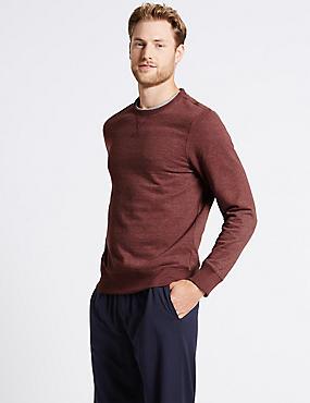 Cotton Rich Sweatshirt, RUST MIX, catlanding