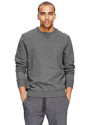 Crew Neck Sweatshirt, GREY, catlanding