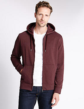 Cotton Rich Hooded Top, , catlanding