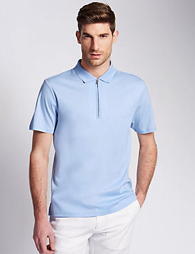 Pure Cotton Tailored Fit Mercerised Polo Shirt