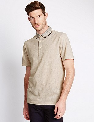 Pure Cotton Tailored Fit Piqué Polo Shirt, CORAL, catlanding