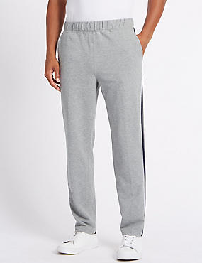 Cotton Rich Twin Stripe Joggers, GREY MIX, catlanding