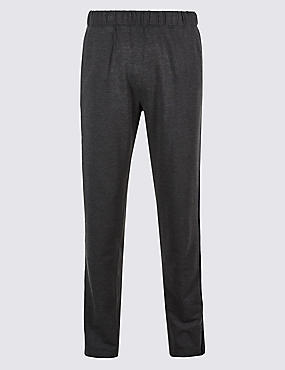 Cotton Rich Twin Stripe Joggers, CHARCOAL, catlanding