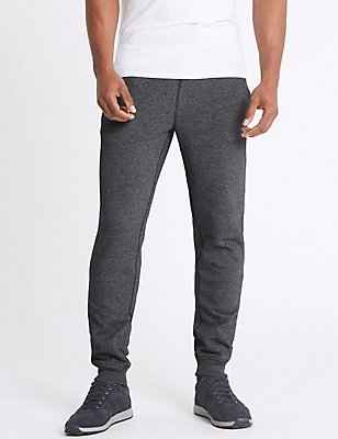 Cotton Rich Cuffed Hem Joggers, GREY, catlanding