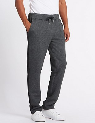 Cotton Rich Textured Joggers, GREY MARL, catlanding