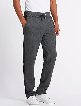 Cotton Rich Twin Stripe Joggers, GREY MARL, catlanding
