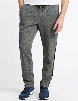 Cotton Rich Striped Joggers, GREY, catlanding