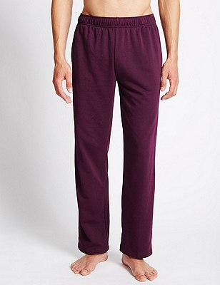 Cotton Rich Sweat Joggers with StayNEW™, DARK BURGUNDY, catlanding