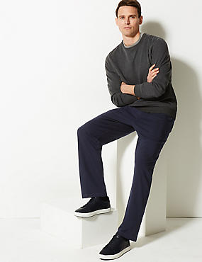 Cotton Rich Joggers , NAVY, catlanding