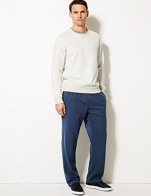 Cotton Rich Sweat Joggers with StayNEW™, DENIM MIX, catlanding