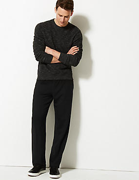 Cotton Rich Joggers , BLACK, catlanding