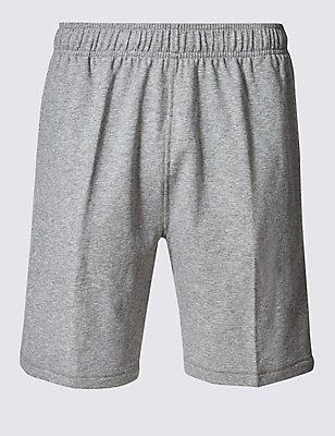 Sweat-Shorts mit elastischem Bund, GRAU MELIERT, catlanding
