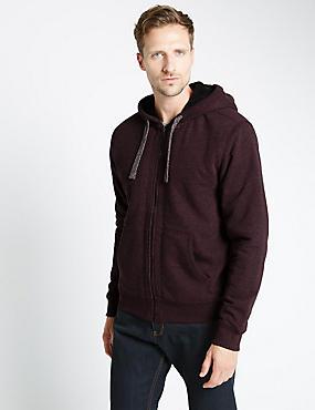 Tailored Fit Hooded Top, BURGUNDY, catlanding