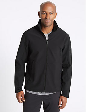 Softshell Fleece Top with Stormwear™, BLACK, catlanding