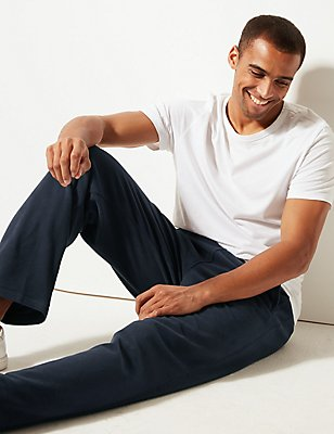 Fleece Joggers with StayNEW™, NAVY, catlanding