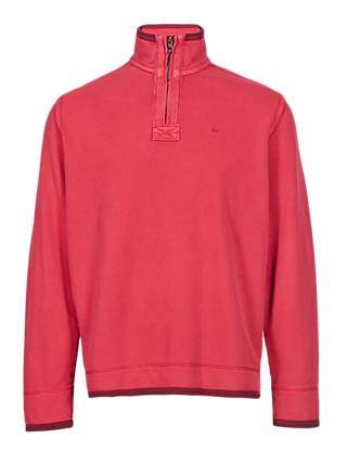 Pure Cotton Half Zip Top Clothing