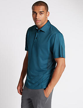 Tailored Fit Textured Polo Shirt, TEAL, catlanding