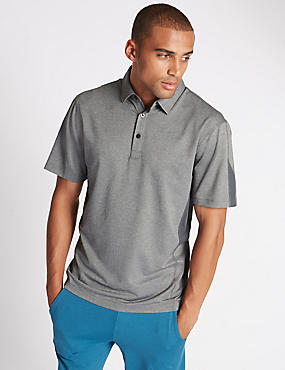 Tailored Fit Textured Polo Shirt, GREY, catlanding