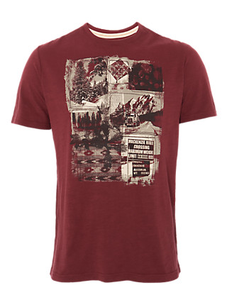 Pure Cotton Printed T-Shirt Clothing