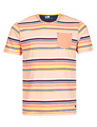 Pure Cotton Striped T-Shirt Clothing
