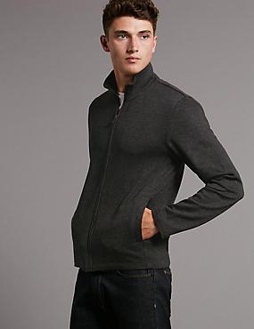 Slim Fit Long Sleeve Sweatshirt, DARK GREY, catlanding