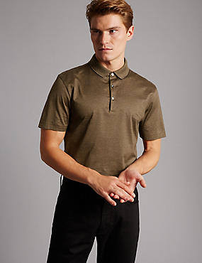 Pure Cotton Striped Polo Shirt, NATURAL MIX, catlanding