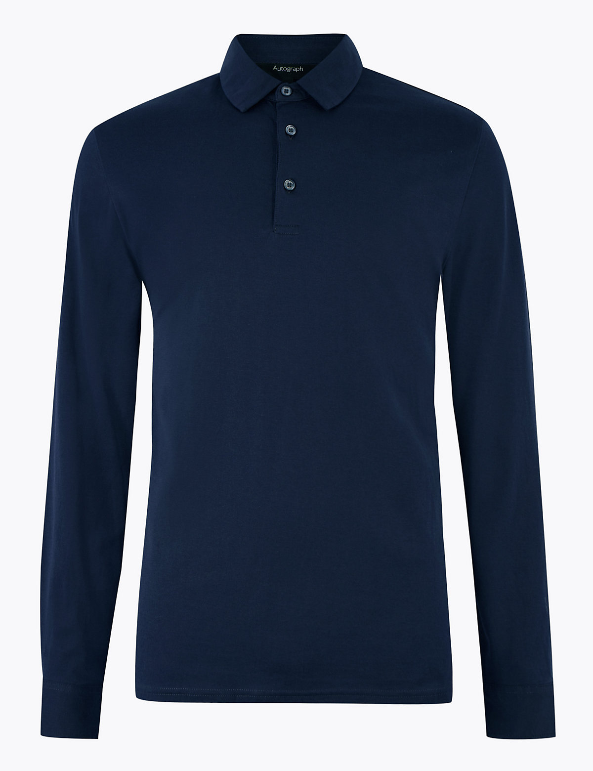 Рубашка поло с длинным рукавом из хлопка Supima