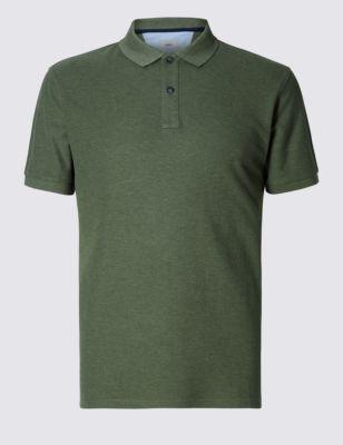Слегка приталенная рубашка-поло из чистого хлопка