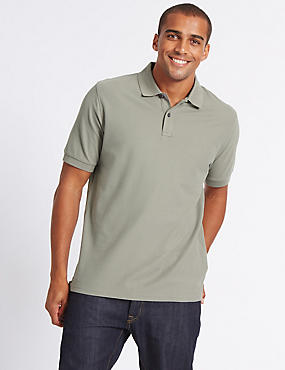 Pure Cotton Polo Shirt, CLAY, catlanding