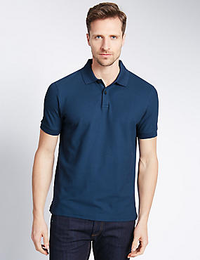Tailored Fit Pure Cotton Polo Shirt, , catlanding
