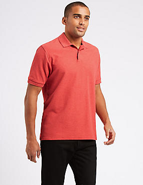 Pure Cotton Polo Shirt, FLAME, catlanding