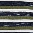 Cotton Rich Striped Crew Neck T-Shirt, MEDIUM GREEN, swatch