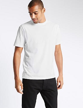 Pure Cotton Regular Fit T-Shirt with StayNEW™, WHITE, catlanding