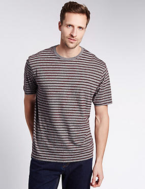 Pure Cotton Stay Soft Striped T-Shirt