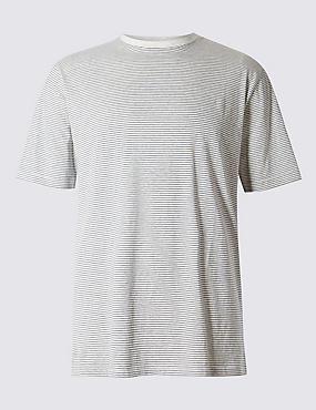 Big & Tall Pure Cotton Stay Soft T-Shirt with StayNEW™, , catlanding