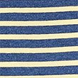 Pure Cotton Striped Crew Neck T-Shirt, BLUE MIX, swatch