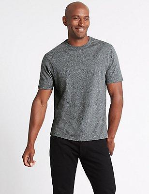 Pure Cotton Slim Fit Crew Neck T-Shirt, , catlanding