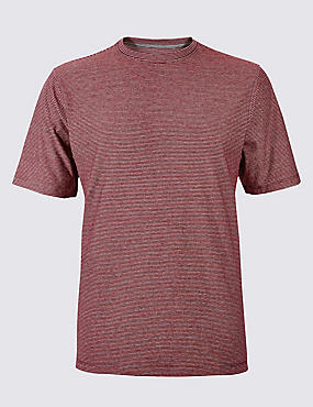 Big & Tall Pure Cotton Crew Neck T-Shirt, RED MIX, catlanding