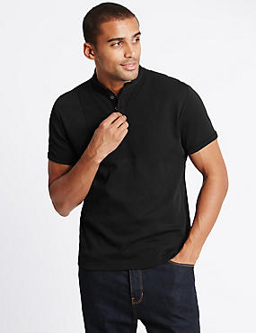 Pure Cotton Short Sleeve T-Shirt, BLACK, catlanding